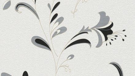 Vinyltapete schwarz Modern Blumen & Natur Black & White 742