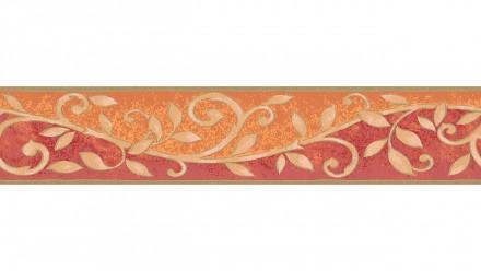 Vinyltapete Bordüre orange Vintage Landhaus Retro Ornamente Blumen & Natur Only Borders 10 021