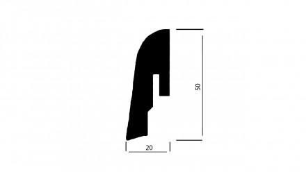 Wicanders Sockelleisten - Kork-Funiert - Silver - 20x50x2400 mm
