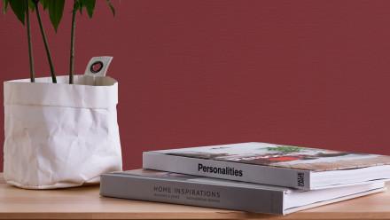 Vinyltapete Strukturtapete rot Klassisch Streifen Uni Styleguide Trend Colours 2021 463