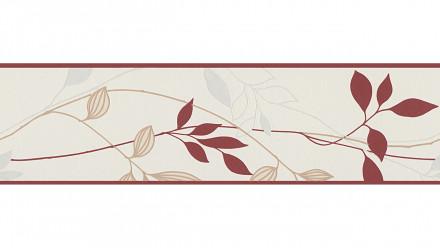 Vinyltapete Bordüre rot VintageModern Blumen & Natur Only Borders 10 630