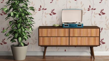 Vinyltapete rot VintageModern Blumen & Natur Styleguide Natürlich 2021 739
