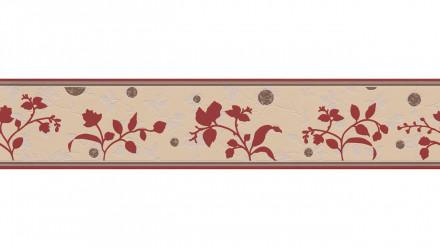 Vinyltapete Bordüre rot Modern Ornamente Blumen & Natur Only Borders 10 823