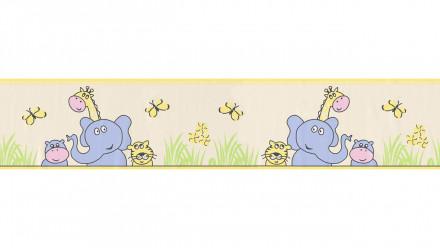 Vinyltapete Bordüre gelb Modern Kinder Kinder Blumen & Natur Only Borders 10 916