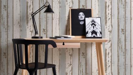 Vinyltapete grau Modern Holz Authentic Walls 2 581