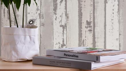 Vinyltapete grau Modern Holz Authentic Walls 2 583