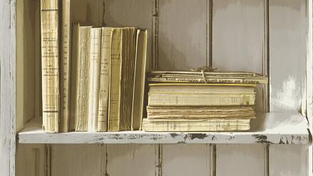 Vinyltapete weiß Retro Klassisch Holz Authentic Walls 2 881