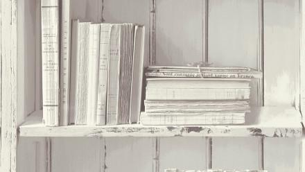 Vinyltapete weiß Retro Klassisch Holz Authentic Walls 2 882