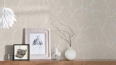 Vinyltapete beige Landhaus VIntage Blumen & Natur Styleguide Natürlich 2021 074