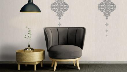 Textilfädentapete creme RetroModern Punkte Wall Fashion 073