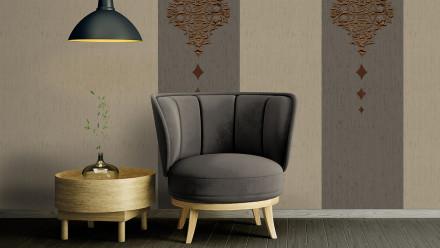 Textilfädentapete grau RetroModern Punkte Wall Fashion 075