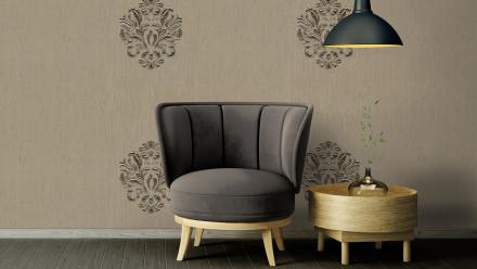 Textilfädentapete grau RetroModern Ornamente Wall Fashion 344