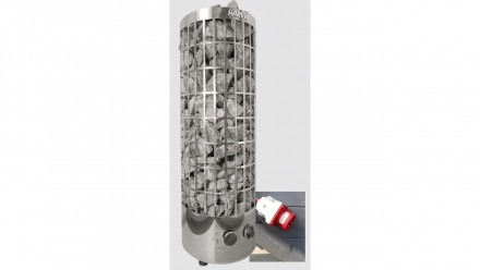 Saunaofen-Set 9 kW mit integrierter Steuerung für montiertes Saunafass