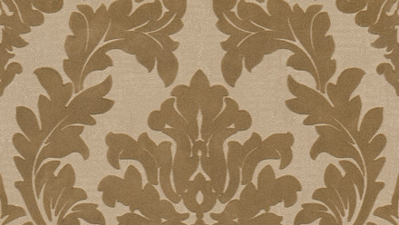 Vinyltapete Beflockt Castello Architects Paper Ornamente Gelb Metallic 802