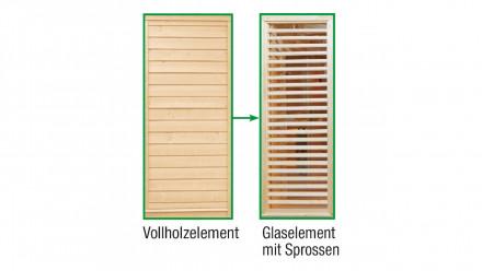 Sauna-Paradiso Sprossen-Austauschelement anstelle Vollholz