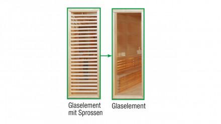 Sauna-Paradiso Glas-Austauschelement anstelle Sprossen