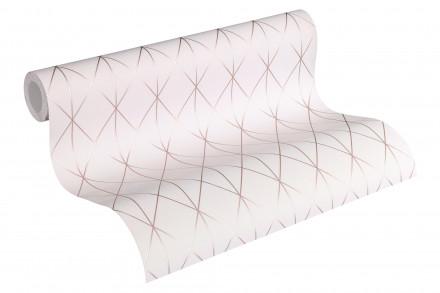 Tapete Designdschungel 2 by Laura N. A.S. Création Modern Metallic Rosa 753