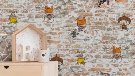 Papiertapete Boys & Girls 6 A.S. Création Kindertapete Steinwand Figuren  Beige Braun Grau 871