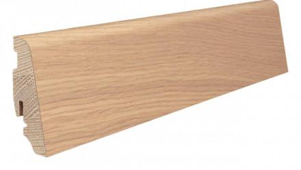 Haro Sockelleisten für Parkett - 19 x 58 mm - Eiche weiß