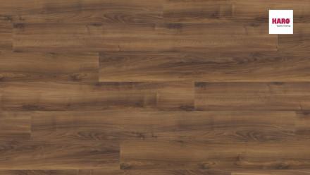 Haro Laminatboden - Tritty 100 Gran Via 4V - Italienischer Nussbaum  - matt/pore - 4-seitige Fase - 1-Stab Landhausdiele