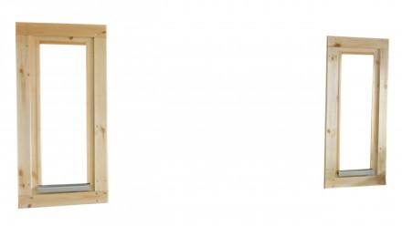 Einzelfenster ISO (2 Stk.) für Vorderwand Saunafass Finja/Svenja