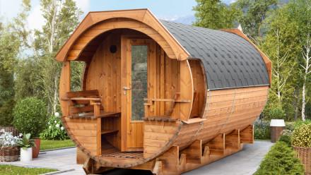 planeo Saunafass Premium Svenja 1 Thermoholz Bausatz