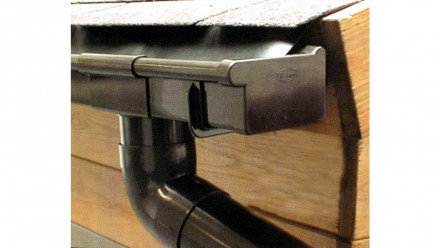 Kunststoff-Dachkastenrinne 203A Braun 1 FR