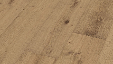 MEISTER Lindura-Holzboden - HD 400 Eiche rustikal milchkaffee XL-Diele naturgeölt 8414
