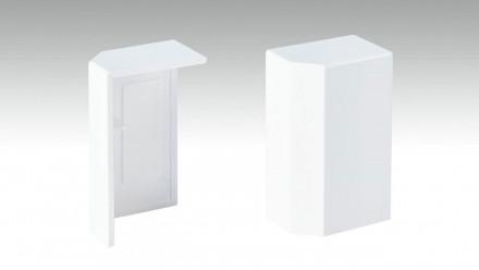 Endkappe selbstklebend für Fußleiste F100201M Modern Weiß 18 x 50 mm - 2St.