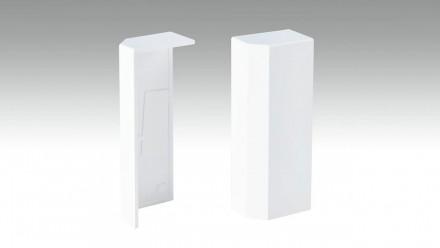 Endkappe selbstklebend für Fußleiste F100202M Modern Weiß 18 x 80 mm