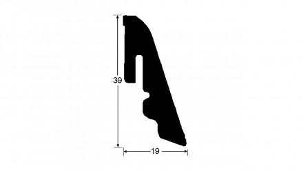 Haro Sockelleisten - Massivholz-Leisten - versiegelt - 19 x 39 mm - Kirschbaum