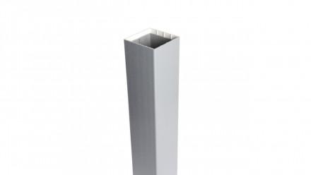 planeo Basic - Pfosten zum Aufdübeln Silbergrau 105 cm