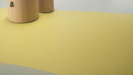 planeo Linoleum Concrete - yellow glow 3741