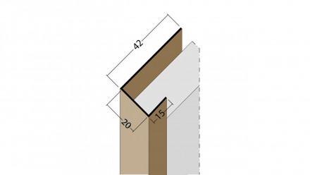 planeo Protect Abschlussprofil - AP 20mm Aufnahme 5000mm Länge schwarz