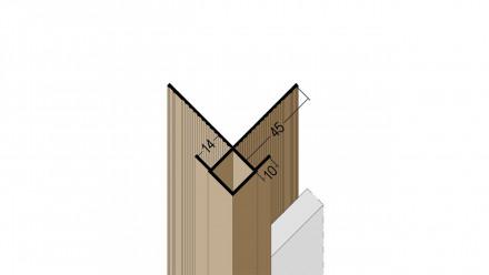planeo Protect Außeneckprofil - KA 13,5mm Aufnahme 5000mm Länge weiß