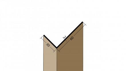 planeo Protect Winkelprofil - WP 30x60x2500mm weiß
