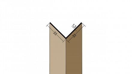 planeo Protect Winkelprofil - WP 35x35x2500mm weiß