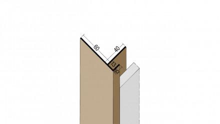 planeo Protect Anschlussprofil - PAA 13x60x3000mm schwarz