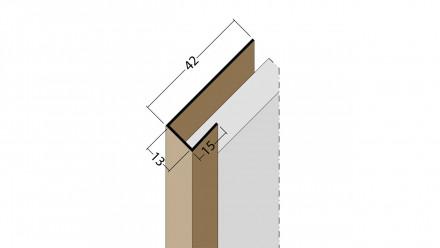 planeo Protect Abschlussprofil - AP 13mm Aufnahme 5000mm Länge weiß