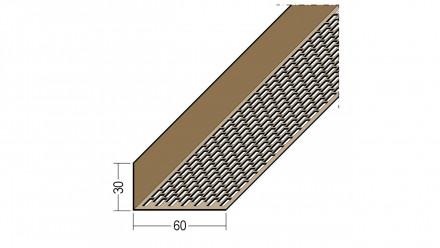 planeo Protect Lüftungswinkelprofil - LÜW 30x60x2500mm braun