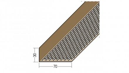 planeo Protect Lüftungswinkelprofil - LÜW 30x70x2500mm weiß