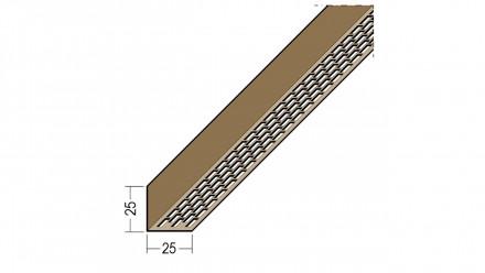 planeo Protect Lüftungswinkelprofil - LÜW 25x25x2500mm - schwarz