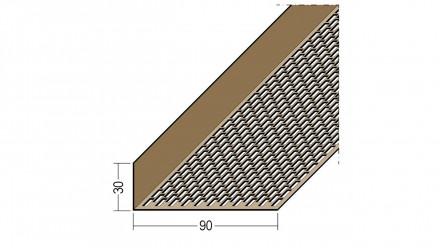 planeo Protect Lüftungswinkelprofil - LÜW 30x90x2500mm schwarz