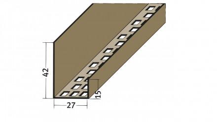 planeo Protect Lüftungs-Abschlussprofil - LÜAP 27mm Aufnahme 5000mm Länge weiß