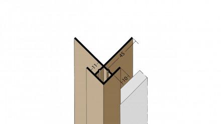 planeo Protect Außeneckprofil - KA 11mm Aufnahme 3000mm Länge weiß