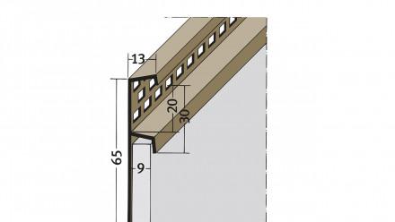 planeo Protect Traufenlüftungsprofil - TL 9mm Aufnahme 2500mm Länge braun