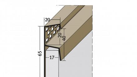 planeo Traufenlüftungsprofil - TL 65x17mm Aufnahme 5000mm Länge schwarz