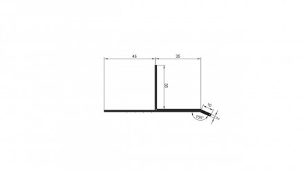 planeo Alu-Lüfter-Tropfkantenprofil 35x35x3000mm Aluminium-natur