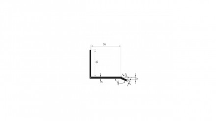 planeo Alu-Tropfkantenprofil 35x35x3000mm Aluminium-natur