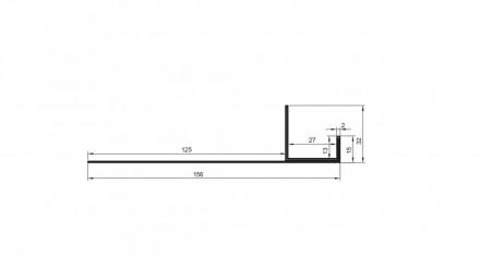 planeo Alu-Anschlussprofil  - AN 27mm Aufnahme 3000mm Länge Aluminium-natur